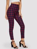 High Waist Grid Leggings