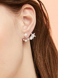 Star Accent Swing Stud Earrings 1pair