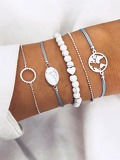 Circle & Marble Pattern Beaded Set 5pcs