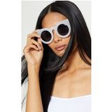 White Oversized Resin Cat Eye Sunglasses