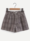 Plaid Tweed Shorts