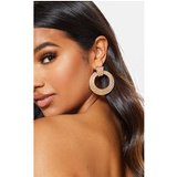 Gold Small Circle Rope Door Knocker Earrings