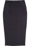 Paneled stretch-twill pencil skirt
