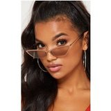 Bronze Slim Cat Eye Sunglasses