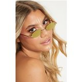Gold Revo Lens Cat Eye Sunglasses