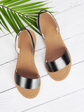 Two Part Flat Sandals