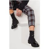 Black Lycra Cleated Ankle Sock Boot