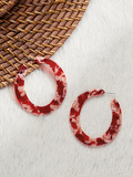 Large Two Tone Acetate Hoop Earrings