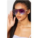 Purple Fade Oversized Flat Top Sunglasses