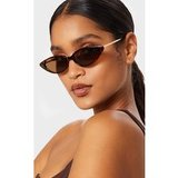 Brown Tortoiseshell Cat Eye Retro Frame Sunglasses