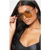 Gold Oversized Tinted Sunglasses