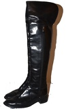 Boots over the knee (black)
