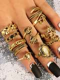 Multi Shaped Design Ring Set 11Pcs