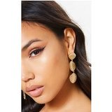 Gold Drop Shell Earrings