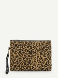 Leopard Pattern Clutch Bag