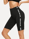 Letter Print Cycling Shorts