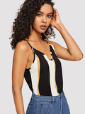 Double V-neckline Cami Top