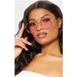 Pink Retro Round Aviator Sunglasses