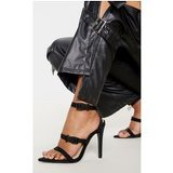 Black Point Toe Buckle Detail Sandal