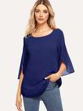 Split Sleeve Chiffon Top