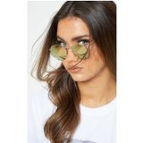 Gold Revo Pink Tint Lens Oval Retro Sunglasses