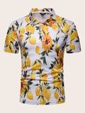 Men Floral Print Polo Shirt