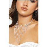Silver Diamante Lattice Choker Necklace