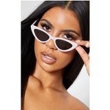 Pale Pink All Over Diamante Cat Eye Sunglasses