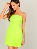 Neon Lime Bodycon Cami Dress