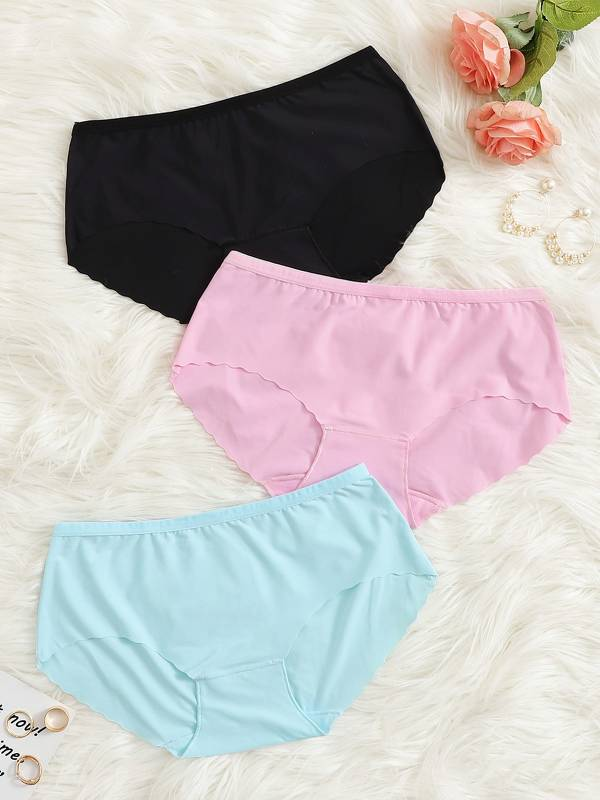 Scalloped Trim Panty Set 3pack