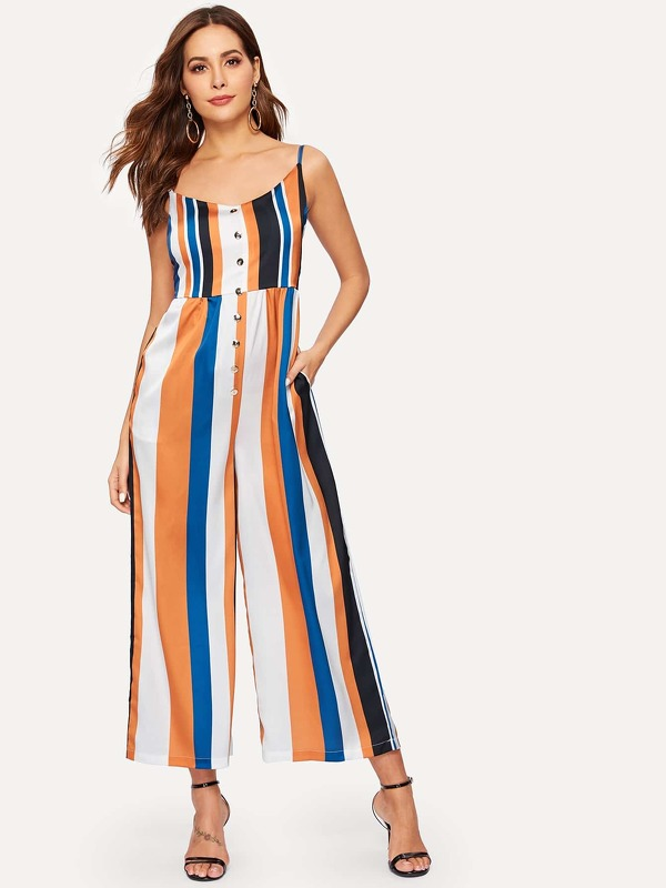 Colourful Striped Cami Jumpsuit