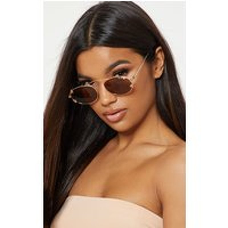 Quay Australia X FINDERS KEEPERS Gold Frame Brown Lens Sunglasses