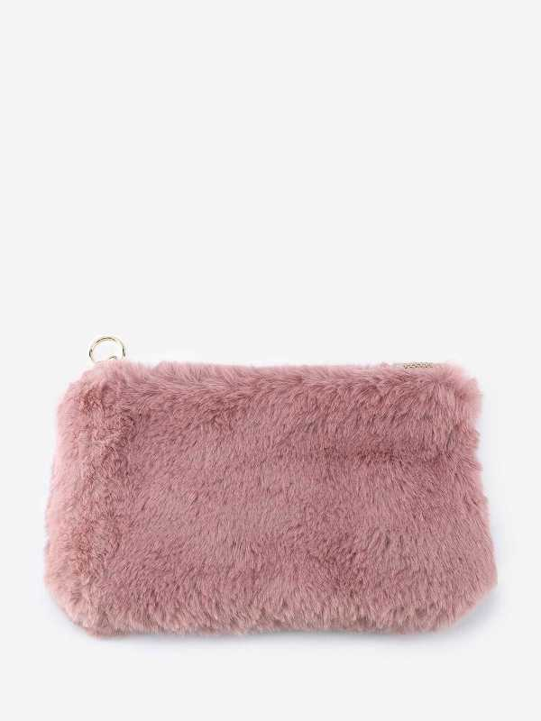 Fluffy Solid Clutch Bag