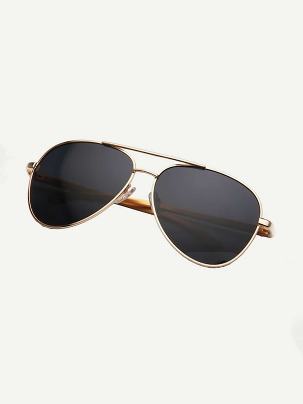 Men Top Bar Metal Frame Sunglasses