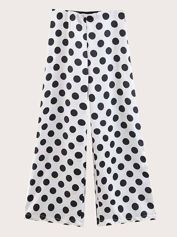 Polka Dot Wide Leg Pants
