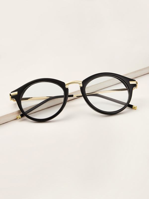 Men Metal Detail Glasses