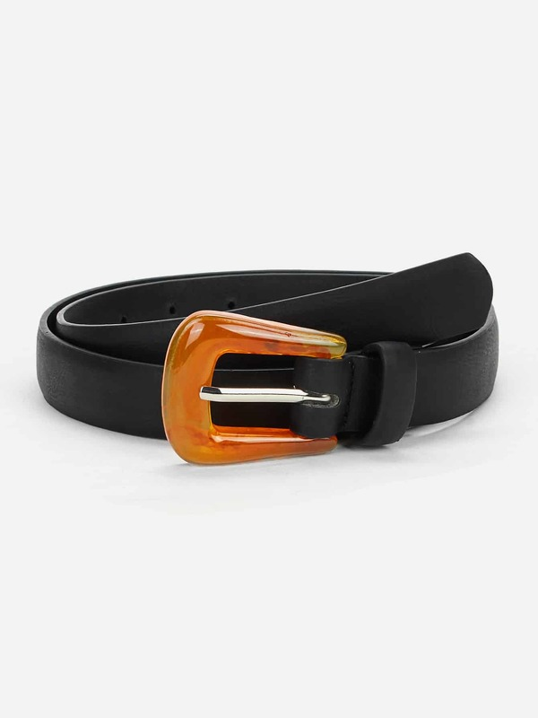 Contrast Buckle Belt
