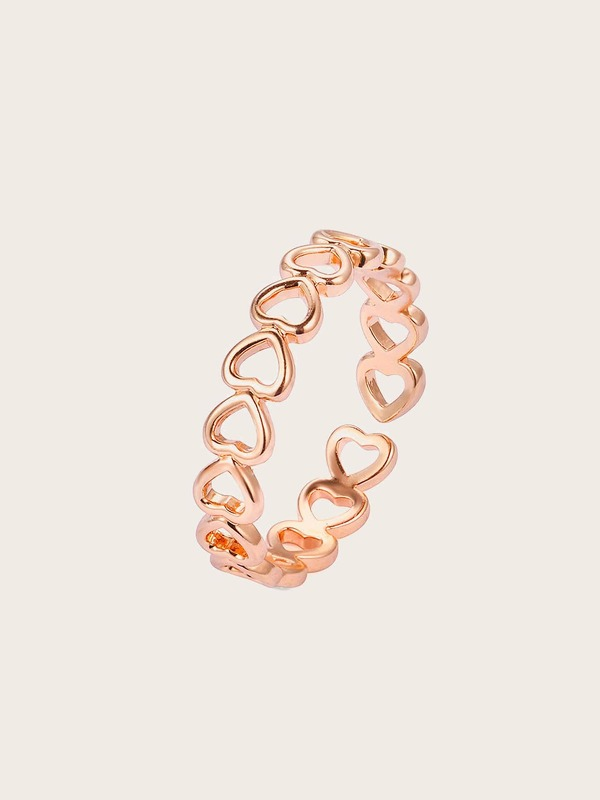 Hollow Heart Ring 1pc