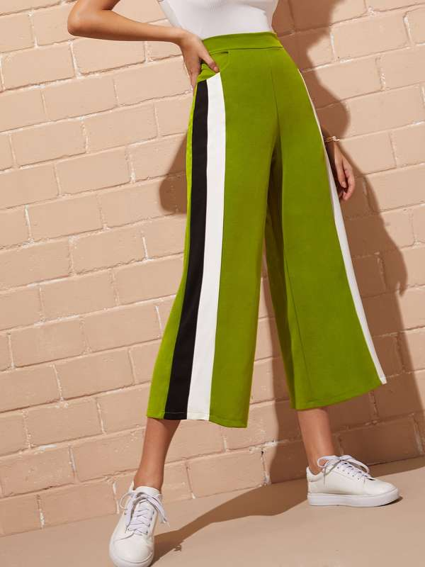 Elastic Waist Cut And Sew Pants