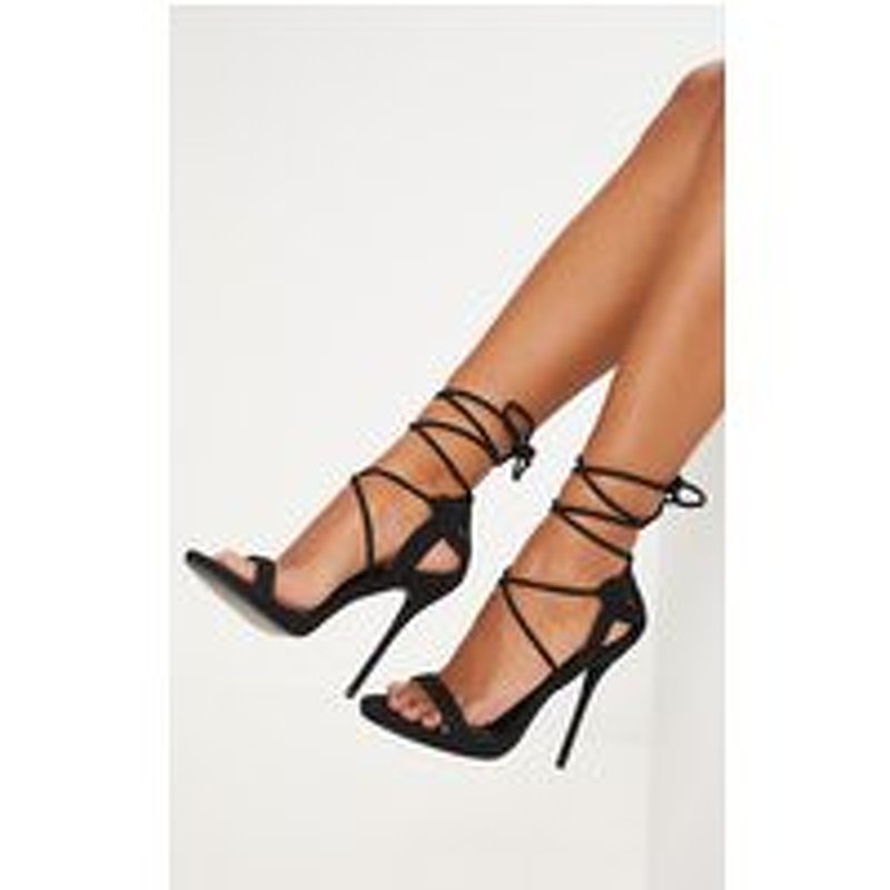 Serenna Black Lace Up Sandals