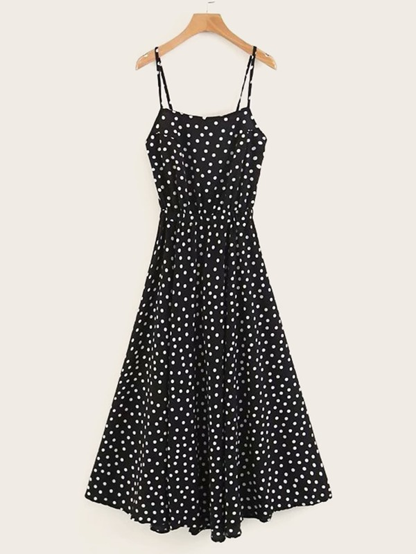 Tie Back Polka Dot Cami Dress