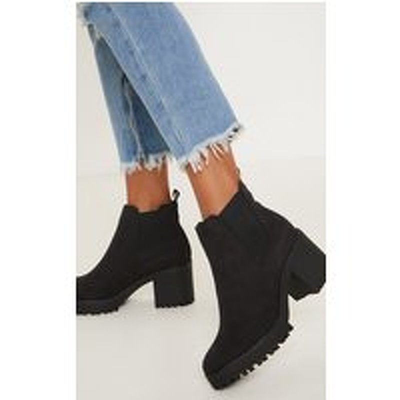 Black Chunky Chelsea Boot