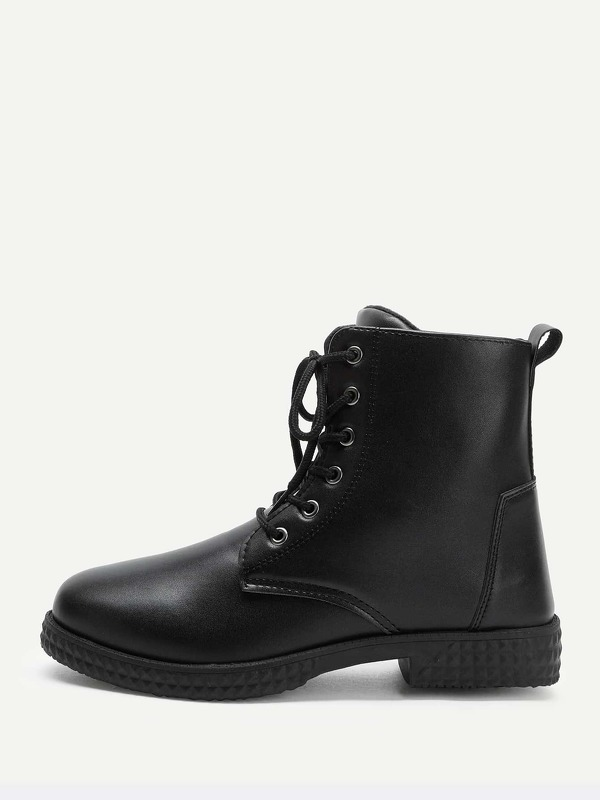 Men Solid Lace-up Boots