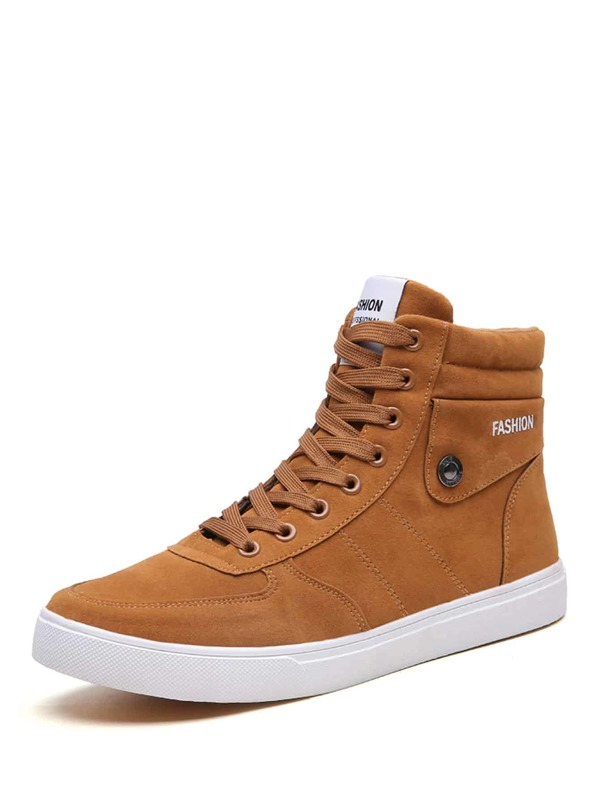 Men Lace-up Suede Ankle Boots