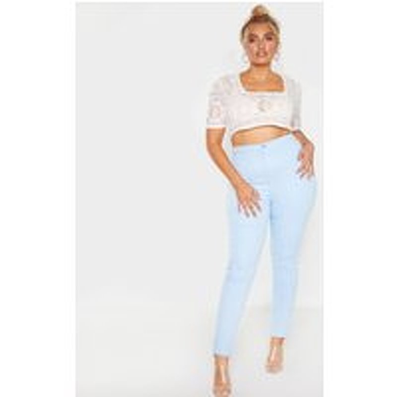 Plus Pale Blue Stretch Jegging