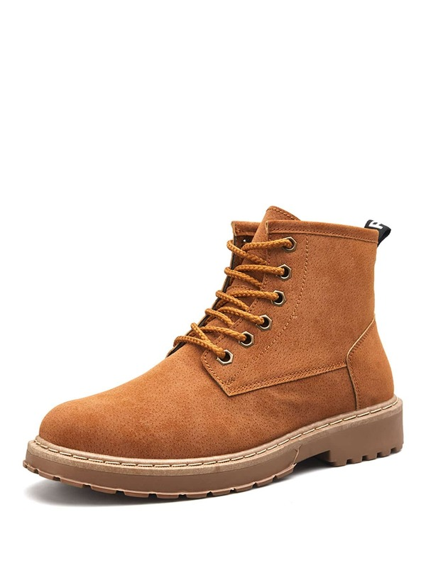 Men Lace-up Ankle Boots