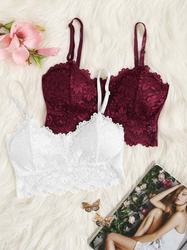 Floral Lace Bralette Set 2pack