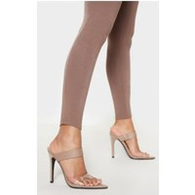 Nude Point Toe Twin Strap Sandal