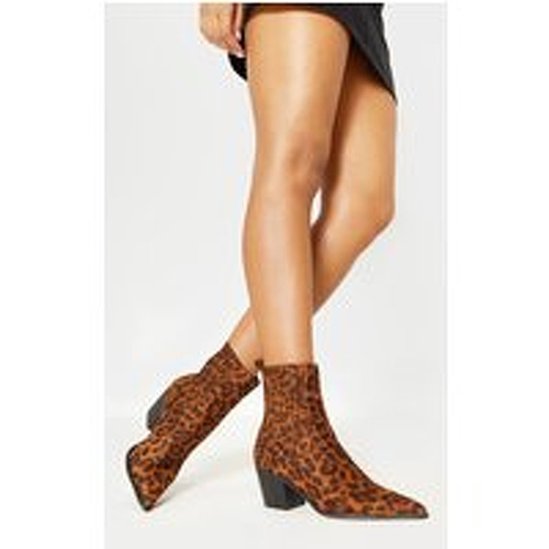 Leopard Chelsea Western Ankle Boot