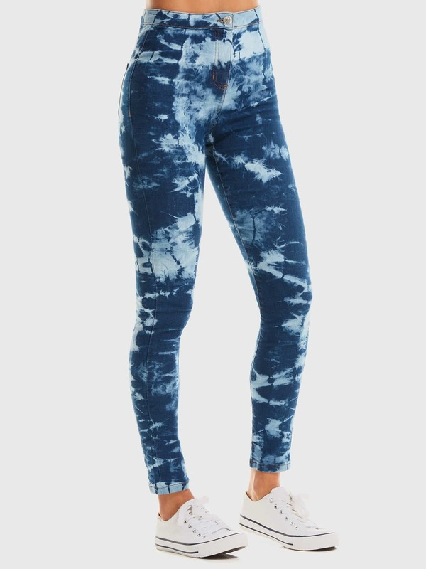 Tie Dye High Waist Jeggings